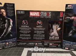 Marvel Legends CIVIL War Captain America & Crossbones, Winter Soldier, Falcon