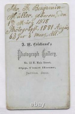 Military American Civil War Soldier Vet John Benjamin 1818-1888 Dayton Ohio