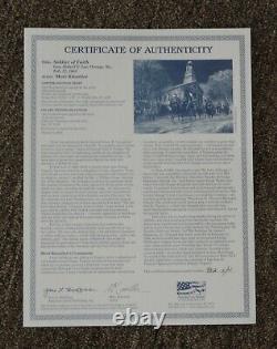 Mort Kunstler Soldier Of Faith Hand Signed Civil War Print MiNT
