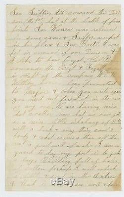 Mr Fancy Cancel 65 CIVIL WAR COVER SOLDIER'S LETTER HOME MENTIONS LINCOLN SHOT