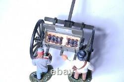 NO RESERVE W Britains 17432 Civil War Confederate Limber 3pc Set