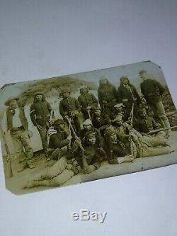 Native American Civil War Tintype Rifle Gun Photo Confederate Soldier Union