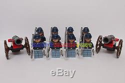 New Cowboy Minifigure 8 x America Civil War Army Soldier + 2 Cannon Custom Brand