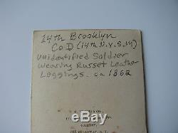 OUTSTANDING Full Standing CDV of 14th Brooklyn 14th N. Y. S. M. Soldier Civil War