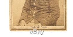 Old Vintage Antique CDV Photo Civil War Confederate Soldier Nashville Tennessee
