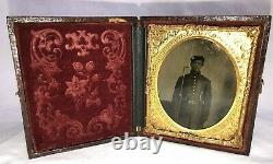Original 6th Plate Size Civil War Soldier Triple Armed Must See 3 Day Listing