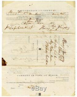 Original CIVIL War Enlistment, 1863 Black Soldier