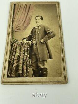 Original Civil War CDV Soldier Sargent Medal On Chest, Baltimore MD