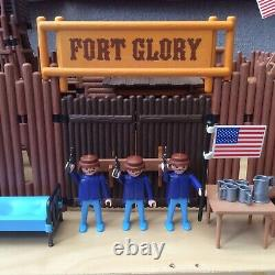 Playmobil Fort Glory Playset 3806 Western Play set, ACW, Union Soldiers, RARE