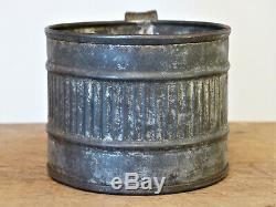 RARE 19th C Civil War ERA Embossed TIN SOLDIER'S DRINKING Cup Mug TINNED IRON