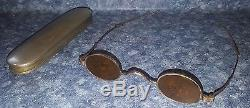 RARE Antique CIVIL WAR ERA SOLDIER'S SNIPER Sharpshooters Coin Silver GLASSES
