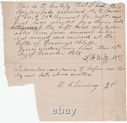 RARE Civil War Confederate Soldier Battle Wound Document 29th Virginia CSA Vet