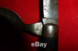 RARE Orig Civil War ERA SOLDIER'S COMBINATION KNIFE & SPOON CAMP SET HOLLEY