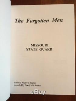 RARE The Forgotten Men Missouri State Guard ROSTER of Soldiers, Civil War, 1st