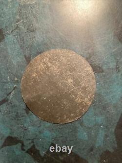 Rare 1 1/2 Round Plate Tintype Civil War Soldier 1860s' Original Frame W Hair