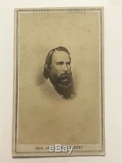 Rare Antique Confederate General James Longstreet Civil War Soldier Cdv Photo
