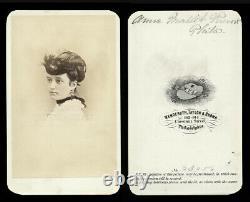 Rare CDV Photos Civil War Soldier Colonel Charles Mallet Prevost WIA & Daughter