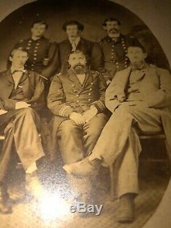 Rare CIVIL War Soldier Sailor Albumen Commander George E. Wingate Usn Officer