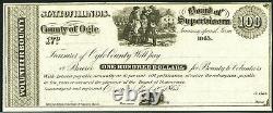 Rare CIVIL War Union Soldier $100 Bounty Note! Oregon, Ogle County Illinois! Unc