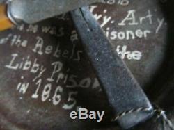 Rare Civil War Soldier's IDENTIFIED MESS GEAR, LIBBY PRISON, NY Artillery, GAR