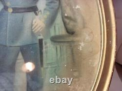 Rare Civil War Union Soldier Oval Framed Picture Antique