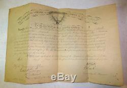 Rare Civil War document lot (3), gruesome death, 1st Michigan regiment, soldier