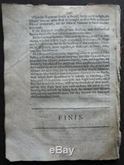 Rare YOUNG SOLDIER 1642 RAYNSFORD Military CIVIL WAR Drill ARMY RULES Muskets