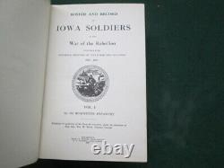 Roster Iowa Soldiers, War Of The Rebellion, 1st-8th Regts. Infantry CIVIL War