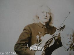 Signed Photo Col. Pattee Old Soldier Fiddler's Iron Brigade Ucv CIVIL War