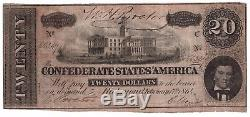 Soldier Autograph 14th NC Volunteers Civil War Confederate CSA T-67 $20 Note
