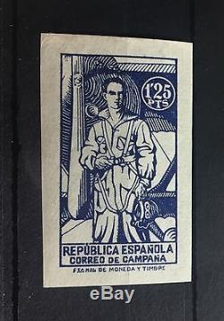 Spain 1939 Unissued Civil War Air Force Soldier Pilot WW2 Franco MNH OG Rare