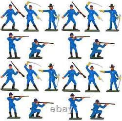 Starlux American Civil War Union Infantry 20 Painted 60mm Plastic Toy Soldiers