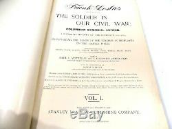 THE SOLDIER IN OUR CIVIL WAR 1000 illustrations, folio, Carleton & Co. Vol 1 & 2