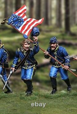 The Collectors Showcase CIVIL War Union 7th Michigan Dismounted Complete Set Mib
