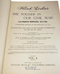The Soldier in Our Civil War Frank Leslie Columbian Memorial Ed. Volume 1 1893