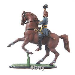 Tin Toy Soldier Civil war Confederate General Pickett on his horse 54mm #CW14