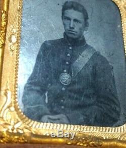 Tintype Of Identified Michigan Civil War Soldier