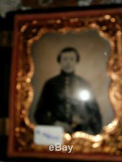 Tintype civil war soldier