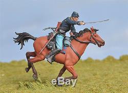 Toy Soldiers Civil War Union Cavalry Gettysburg Black Hawk 1/32 BH0803 Britains