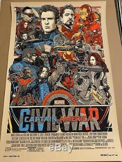 Tyler Stout Mondo Captain America Civil War Winter Soldier Movie Print MINT
