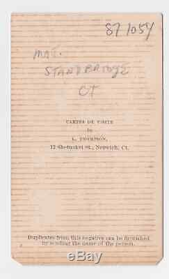 U. S. Civil War Era Unidentified Enlisted Soldier CDV Carte De Visite
