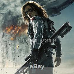 US SHIP Captain America 3 Civil War Winter Soldier Bucky Barnes Armor Arm PVC 1