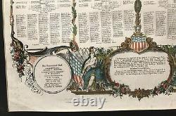 USA ORIGINAL ANTIQUE CIVIL WAR SOLDIER MEMORIAL POSTER 1862-64 sz 22x 28