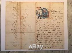 Union Civil War Soldier Letter written at Patterson Park Baltimore MD 6/18/1862