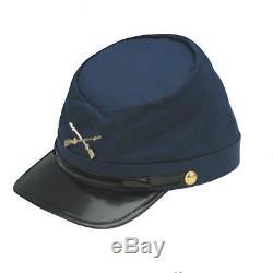 Union Hat Navy Blue Federal Army Cotton Cap USA Soldier Costume Kepi Civil War