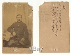 Unknown Civil War Infantry Soldier Amputee Medical CDV