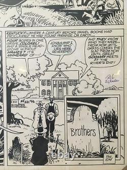 Unknown Soldier Original Art 261 Page 23 1982 Civil War Comic Ric Estrada
