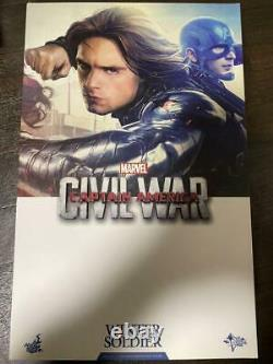 Used HOT TOYS MMS351 1/6 Civil War Winter Soldier Bucky Captain America 3