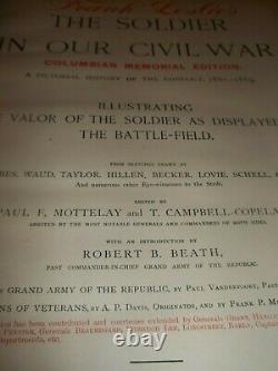 VINTAGE Soldier in our Civil War True History of United States MDCCCXC 2 vols