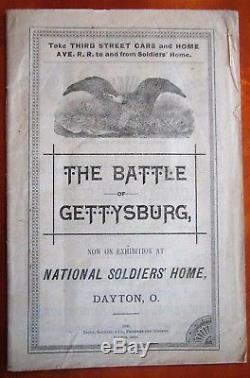 Very Rare Vintage Civil War Battle of Gettysburg Book Huge Map National Soldiers